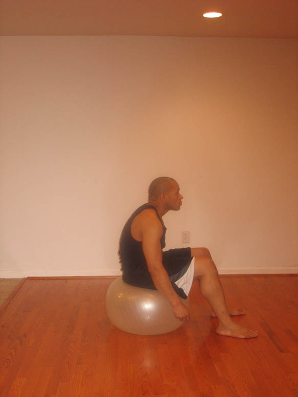 STABILITY BALL STRETCHES. Familiarize yourself with the following stretches